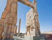Figure of bull-men Lamassu in Persepolis Stock Photography