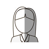 Figure business woman formal cloth icon Stock Image
