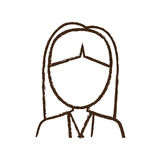 Figure business woman formal cloth icon Stock Photo