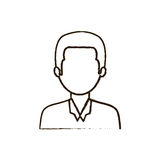 Figure businessman formal cloth icon Royalty Free Stock Photos