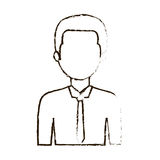 Figure businessman formal cloth icon. Illustration image Stock Images