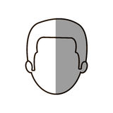Figure businessman formal face icon. Illustration image Stock Photography