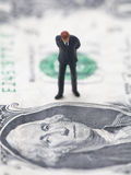 Figure of businessman on one dollar bill Stock Photography