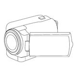 Figure camcorder icon image. Illustraction design Stock Photo