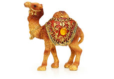 Figure of camel isolated. On white Stock Image