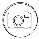 Figure camera emblem icon Stock Image