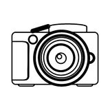 Figure camera icon image Royalty Free Stock Photo