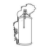Figure can aerosol sprays icon. Illustraction design Royalty Free Stock Photos
