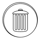 Figure can trash emblem icon. Illustraction design Royalty Free Stock Photos