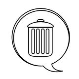 Figure can trash emblem icon. Illustraction design Royalty Free Stock Image