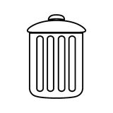 Figure can trash icon. Illustraction design Royalty Free Stock Photos