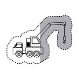 Figure car crane icon. Image,  illustration design Stock Image