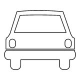 Figure car front icon. Illustration design Stock Image