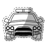 Figure car police icon image. Illustration design Royalty Free Stock Image