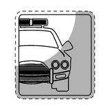 Figure car police icon image. Illustration design Royalty Free Stock Images