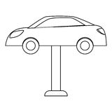 Figure car repair icon image. Illustration Royalty Free Stock Photo