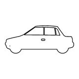 Figure car side icon. Illustration design Stock Photos