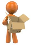 Figure with cardboard box Stock Photography