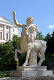 The figure of the centaur on a pedestal. The figure of the centaur on a pedestal Stock Images