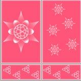 Figure ceramic tiles. Floral design pattern ceramic tiles in eps 10 format Stock Images