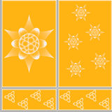 Figure ceramic tiles. Floral design pattern ceramic tiles in eps 10 format Royalty Free Stock Photos