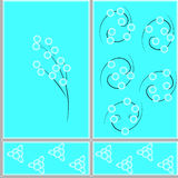 Figure ceramic tiles. Floral design pattern ceramic tiles in eps 10 format Royalty Free Stock Photography