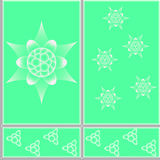 Figure ceramic tiles. Floral design pattern ceramic tiles in eps 10 format Stock Photography