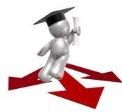 figure chemin de graphisme de graduation Image libre de droits