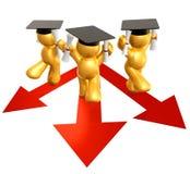 figure chemin de graphisme de graduation Photo libre de droits