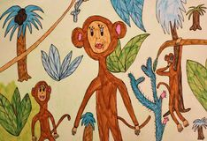 The figure of the child - monkey Royalty Free Stock Photo