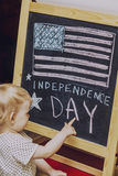 Figure child symbol of the independence day of America on the dr Royalty Free Stock Photo