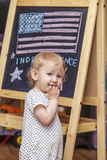 Figure child symbol of the independence day of America on the dr Stock Image