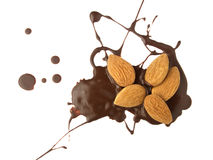 Figure of chocolate with almonds Stock Photo