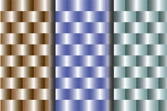 figure cilindriche 3D nelle file regolari royalty illustrazione gratis