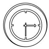 Figure clock emblem icon Stock Images