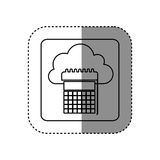 Figure cloud calendar network icon Stock Photography
