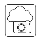 Figure cloud camera network icon Royalty Free Stock Photo