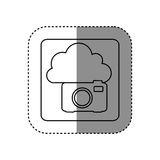 Figure cloud camera network icon Stock Photography