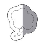 Figure cloud chat bubble icon. Illustraction design Royalty Free Stock Photography