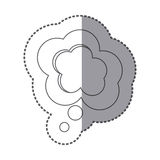 Figure cloud chat bubble icon. Illustraction design Stock Photography
