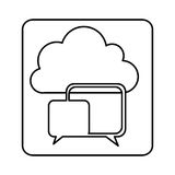 Figure cloud chat bubbles network. Illustration design Royalty Free Stock Photo