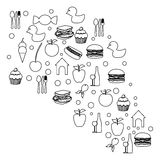 Figure cloud color food blackground icon. Illustraction design Royalty Free Stock Photo