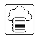 Figure cloud notebook network icon Stock Photos