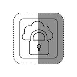 Figure cloud padlock connect icon Stock Images