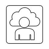 Figure cloud person technology icon Stock Images
