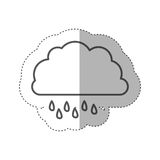 Figure cloud rainning icon Royalty Free Stock Photos