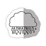 Figure cloud rainning icon Stock Image