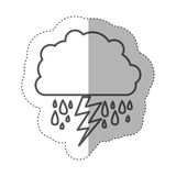 Figure cloud rainning with ray. Illustraction design Stock Photo