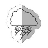 Figure cloud with ray icon Royalty Free Stock Photography