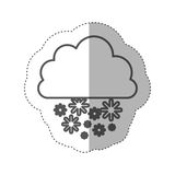 Figure cloud snowing icon Royalty Free Stock Photos
